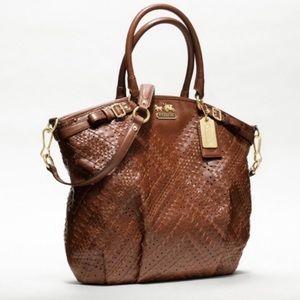 *RARE* Coach Madison criss cross leather satchel